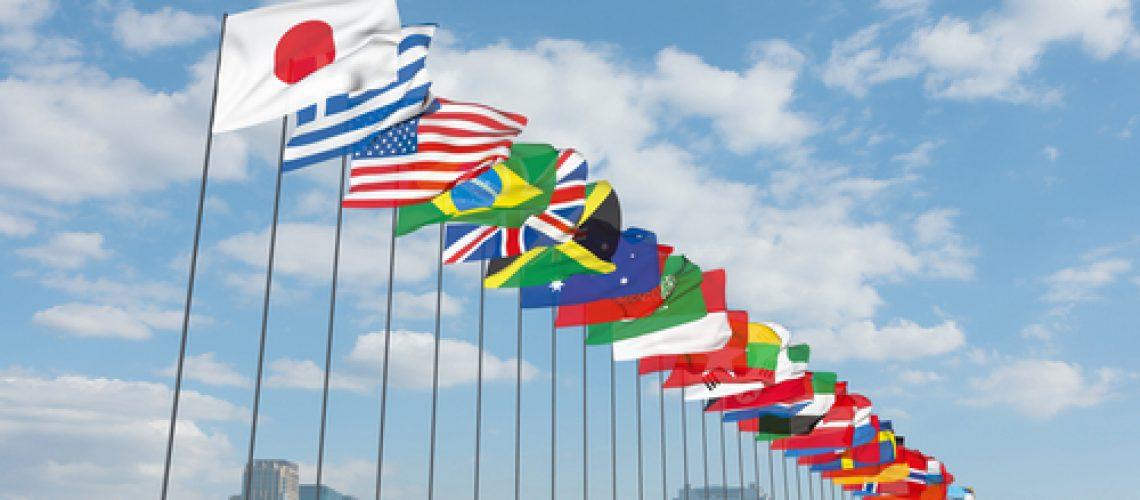 International,,3d,,Global,,Flag